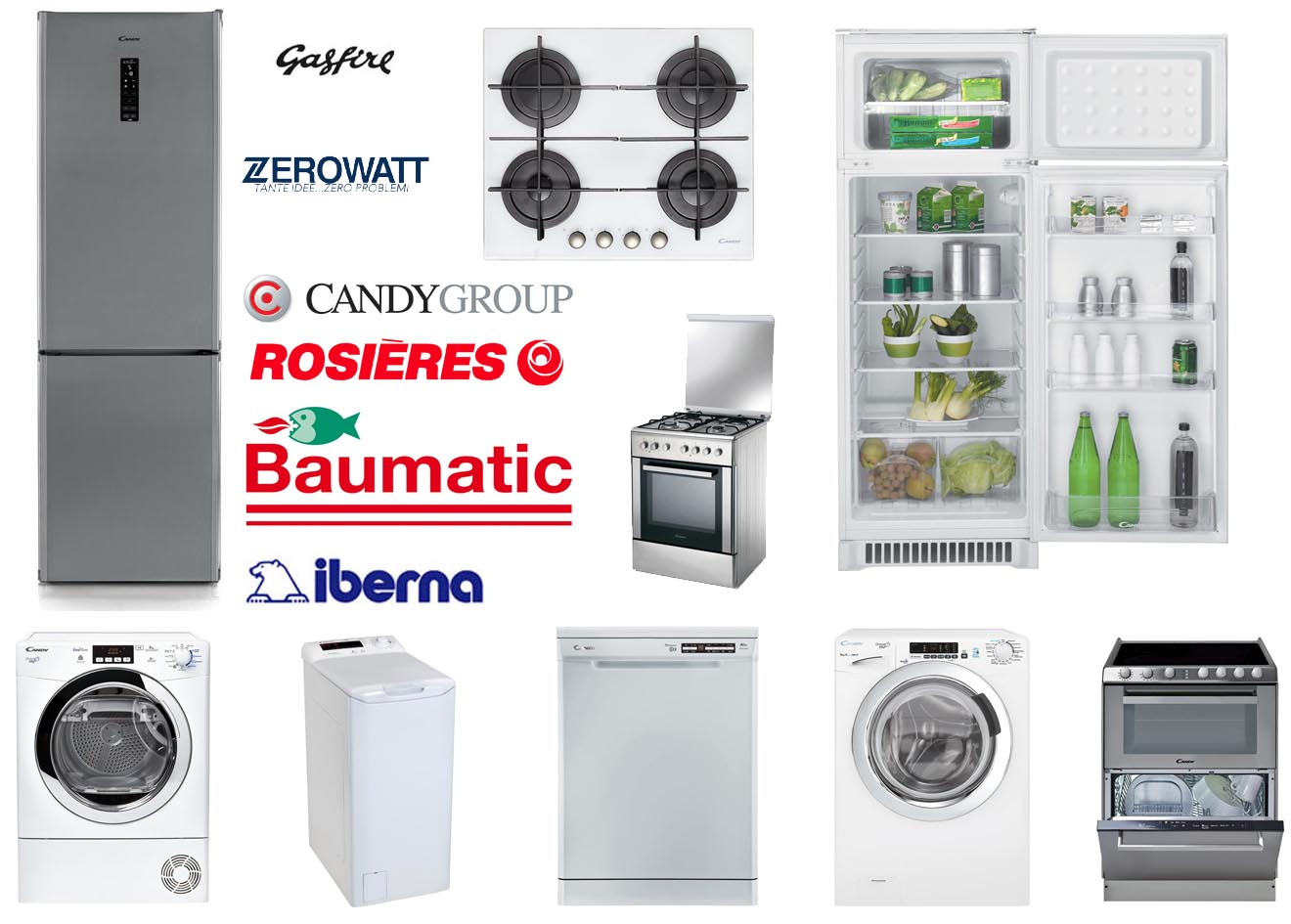 Assistenza e riparazione Candy - Hoover - Rosières - Vyatka - Zerowatt - Iberna - Jinling - Süsler - Gasfire - Baumatic Bologna e provincia